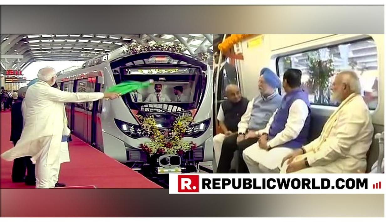 WATCH | PM MODI INAUGURATES THE FIRST PHASE OF AHMEDABAD METRO, TAKES A RIDE WITH UNION MINISTER HARDEEP PURI AND GUJARAT CM
