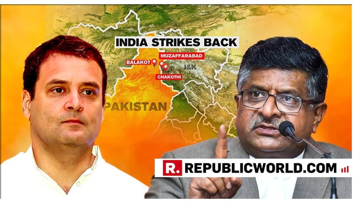 "WATCH: ""DOES RAHUL GANDHI WANT CERTIFICATE FROM PAKISTAN,"" ASKS RAVI SHANKAR PRASAD AFTER CONGRESS PRESIDENT SHOOTS ""AIRSTRIKE EVIDENCE"" QUESTION"