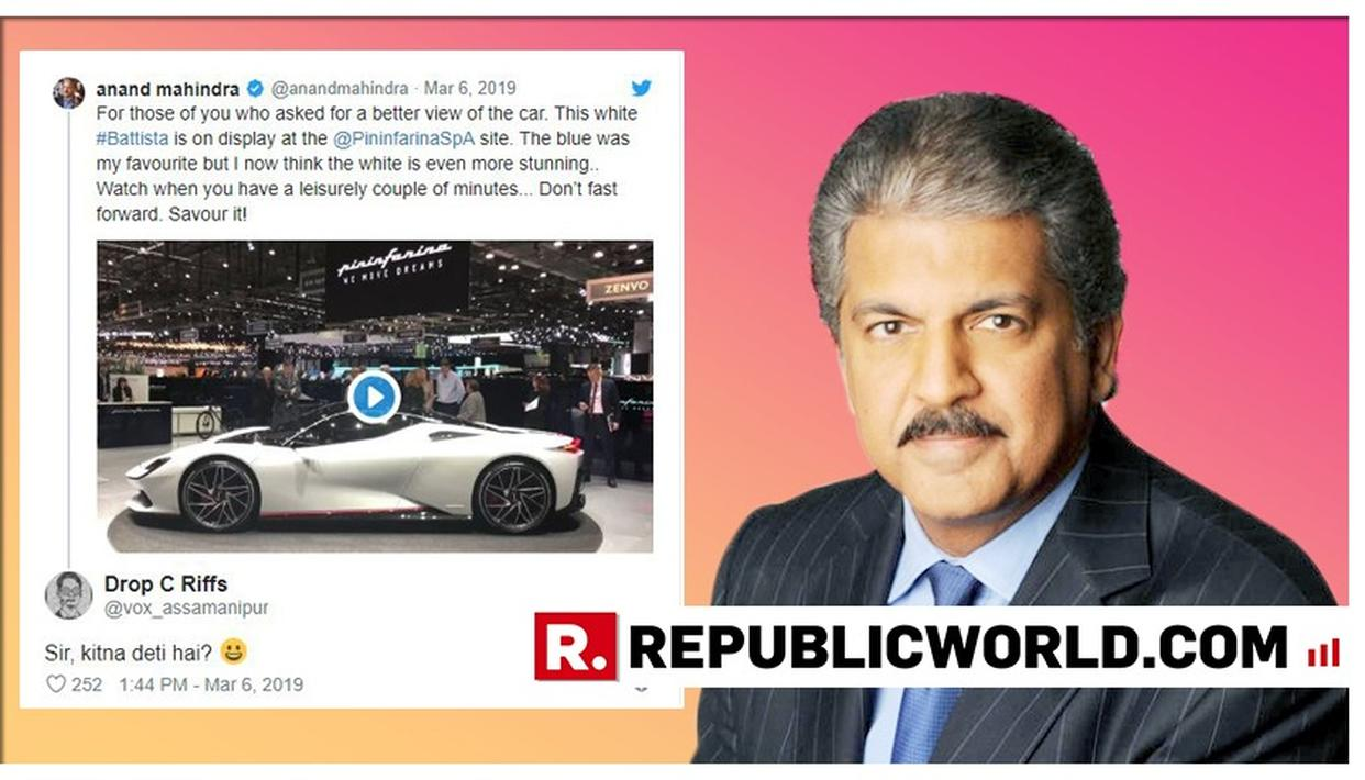 """SIRJI, SHOCK DETI HAI!"", ANAND MAHINDRA'S COMICAL REPLY TO A MAN ASKING ""KITNA DETI HAI"" IS GOING VIRAL"