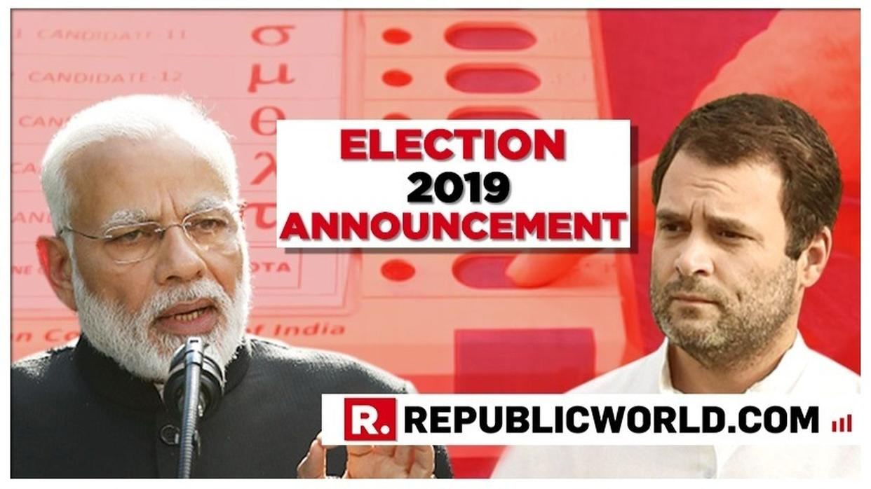 LOK SABHA ELECTIONS 2019: ELECTION COMMISSION (EC) TO ANNOUNCE POLL DATES AT 5 PM TODAY, STATE ASSEMBLY ELECTIONS ALSO LIKELY TO BE ANNOUNCED. LIVE updates