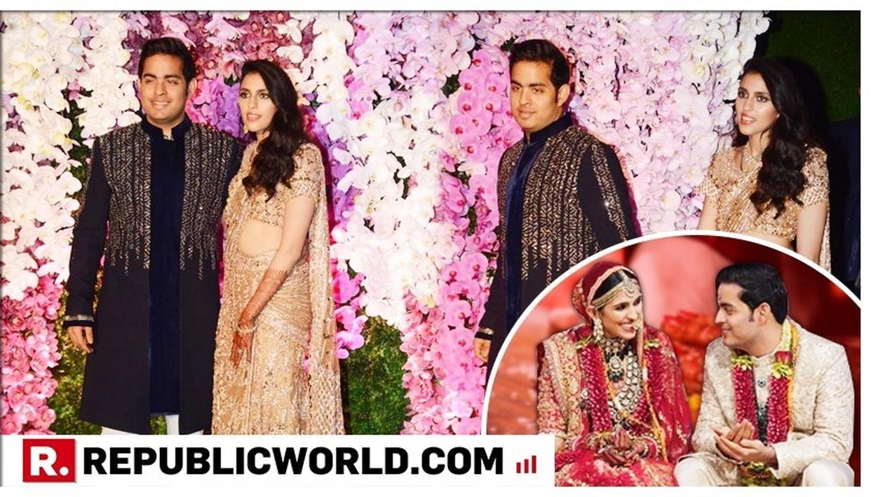 AKASH AMBANI-SHLOKA MEHTA POST-WEDDING CELEBRATION: THE NEWLYWEDS SHINE IN THEIR BLACK AND GOLD OUTFITS