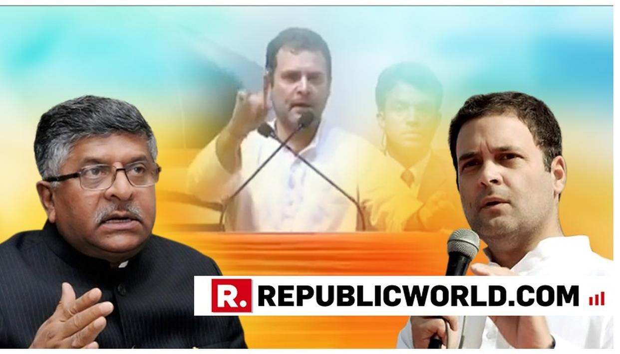 """WATCH: """"SHOCKING AND SHAMEFUL"""", RAVI SHANKAR PRASAD LAUNCHES A BLISTERING ATTACK ON RAHUL GANDHI, ASKS """"WHAT DOES HE MEAN BY MASOOD AZHAR JI?"""""""