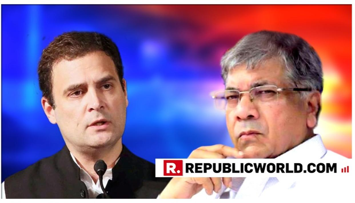 BIG JOLT TO CONGRESS & NCP IN MAHARASHTRA: PRAKASH AMBEDKAR RULES OUT ALLIANCE, SAYS 'NO OPTION OF TALKS WITH CONG'