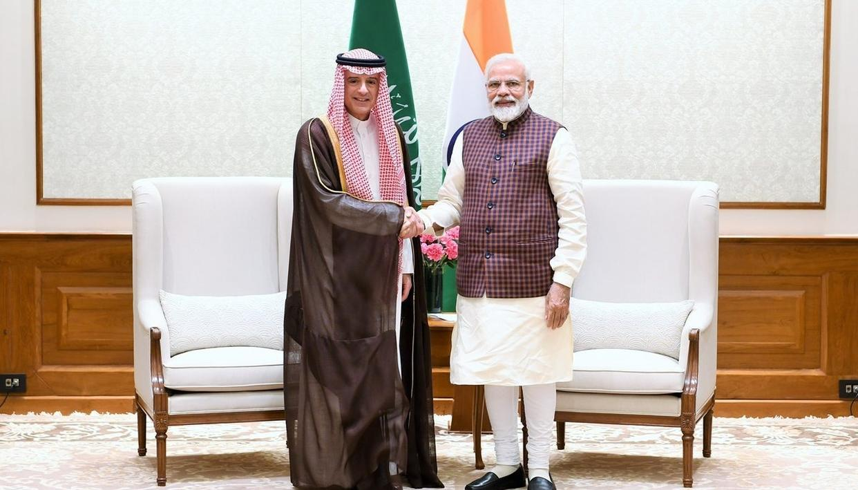 SAUDI FOREIGN MINISTER MEETS PM MODI, BRIEFS HIM ON FOLLOW UPS OF POST-MBS VISIT