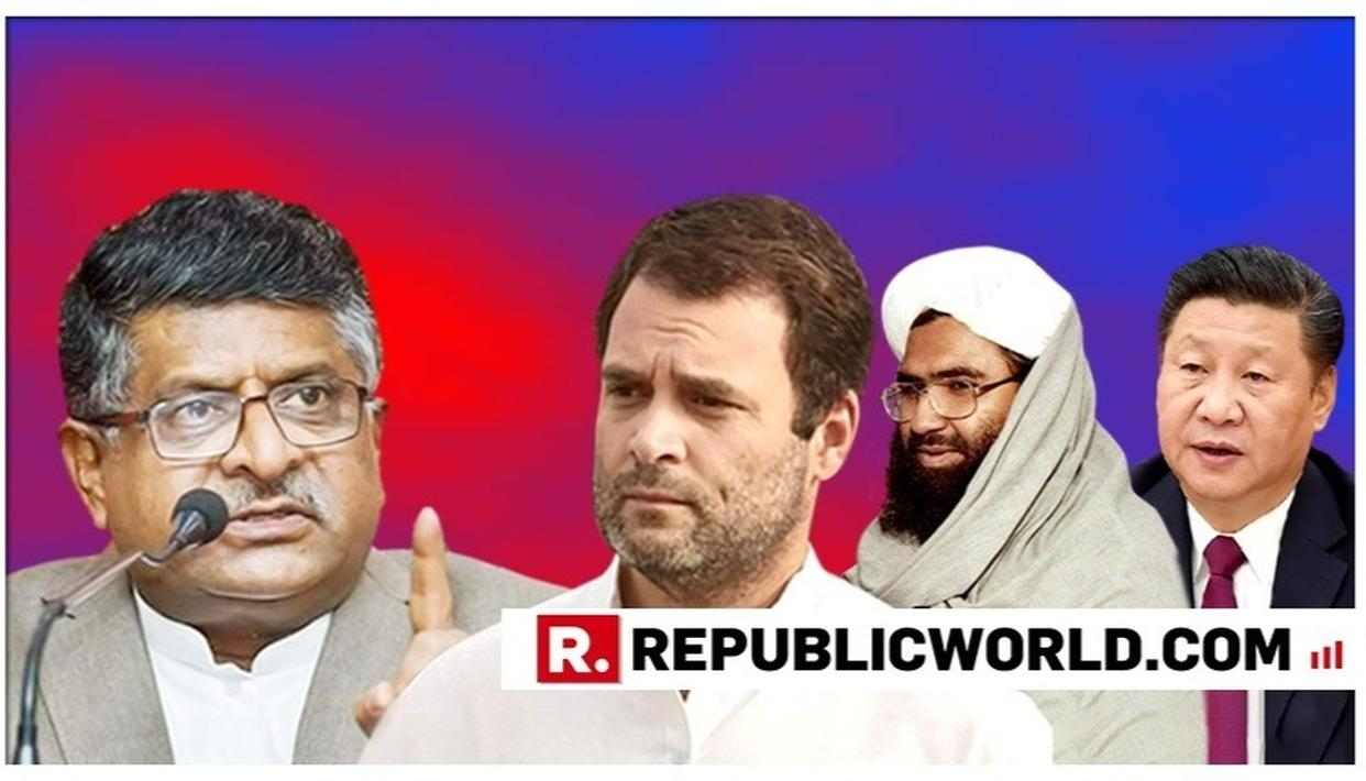 WATCH: 'IF YOU ARE SO CLOSE TO CHINESE ESTABLISHMENT, YOU SHOULD USE THE PROXIMITY TO PERSUADE CHINA,' SAYS RAVI SHANKAR PRASAD TO RAHUL GANDHI
