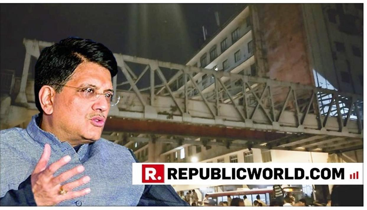 RAILWAYS MINISTER EXPRESSES CONDOLENCES AFTER FOOTOVER BRIDGE NEAR CSMT STATION IN MUMBAI COLLAPSES