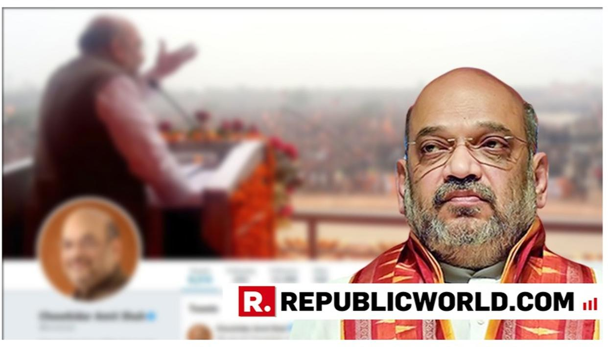 AMIT SHAH JOINS THE #MAINBHICHOWKIDAR CRUSADE, CHANGES HIS TWITTER HANDLE TO 'CHOWKIDAR AMIT SHAH'