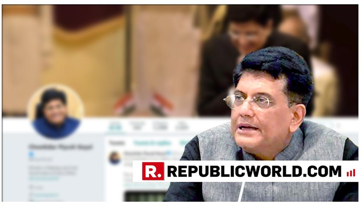 UNION MINISTER PIYUSH GOYAL FOLLOWS PM MODI AND AMIT SHAH, PREFIXES HIS TWITTER HANDLE WITH 'CHOWKIDAR'