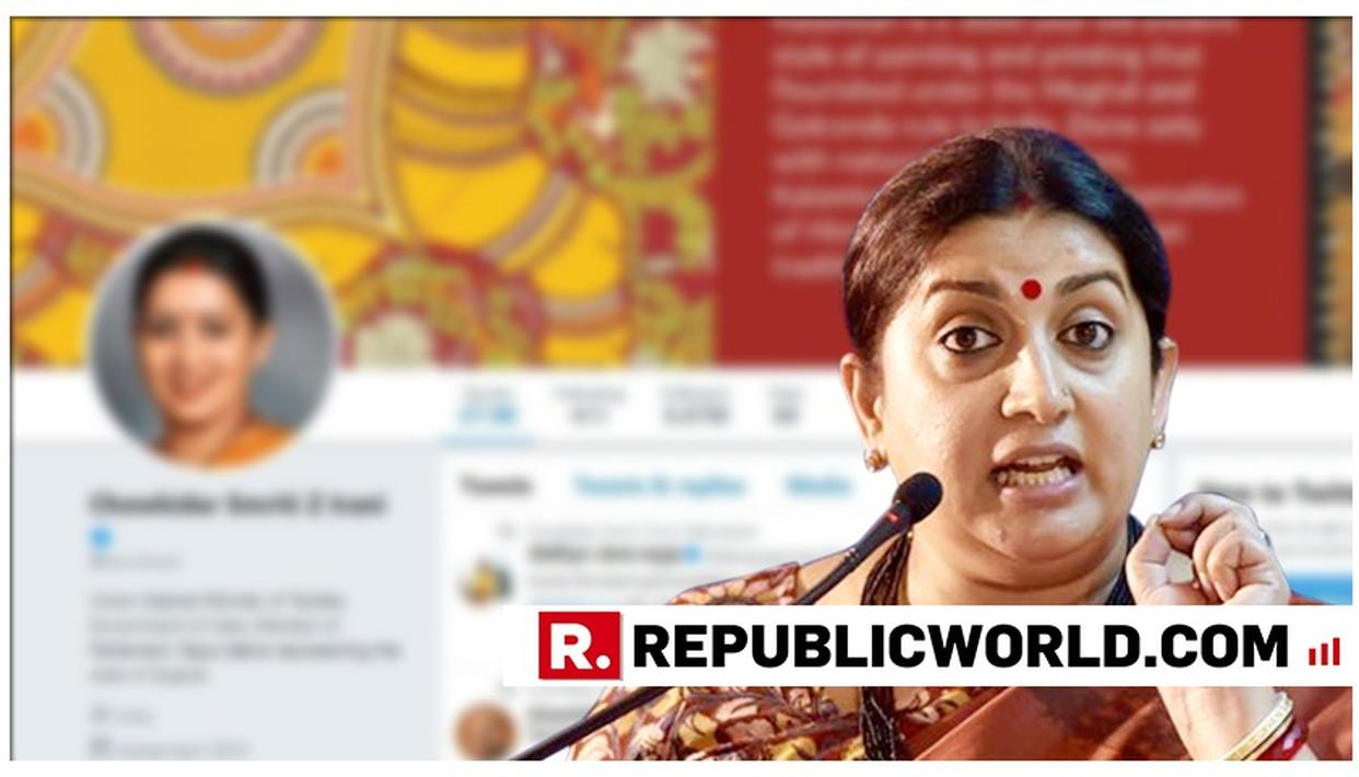 UNION MINISTER SMRITI IRANI PREFIXES HER NAME WITH 'CHOWKIDAR' PUSHES AHEAD 'MAIN BHI CHOWKIDAR' CAMPAIGN