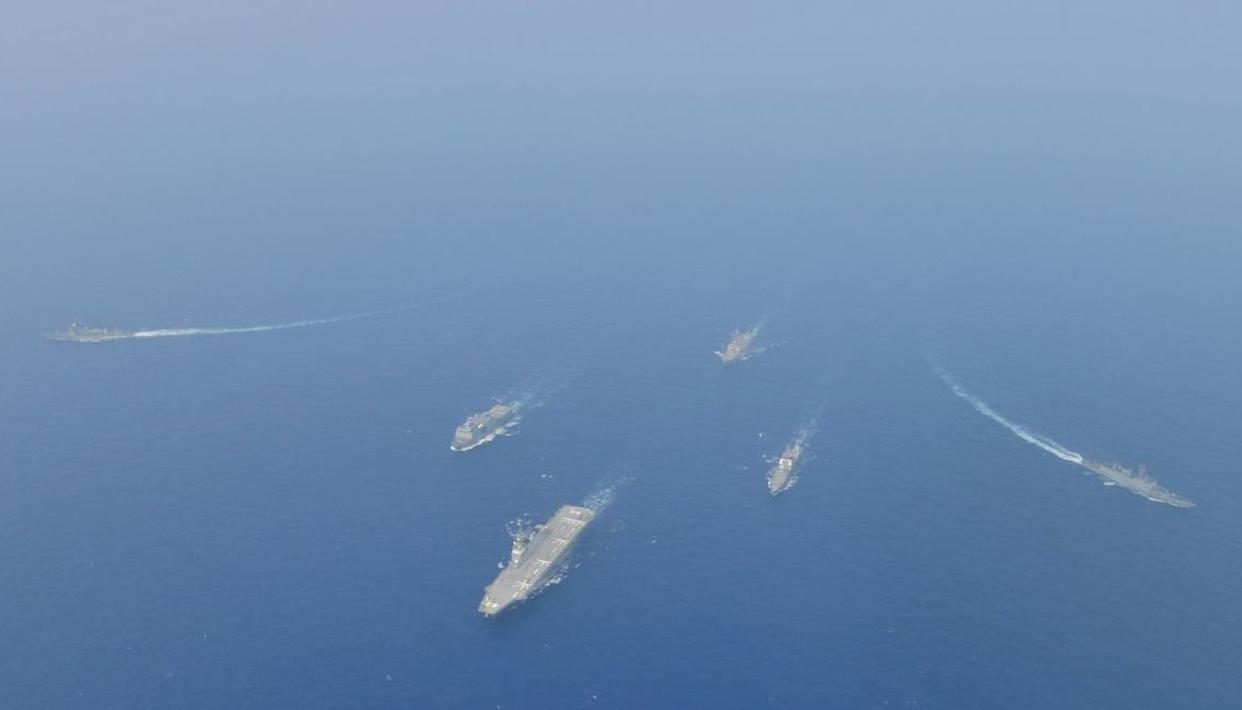 INDIAN NAVY DEPLOYED 'AIRCRAFT CARRIER INS VIKRAMADITYA AND ITS BATTLE GROUP WARSHIPS ALONG WITH FIGHTER AIRCRAFT' DURING INDIA-PAKISTAN TENSIONS
