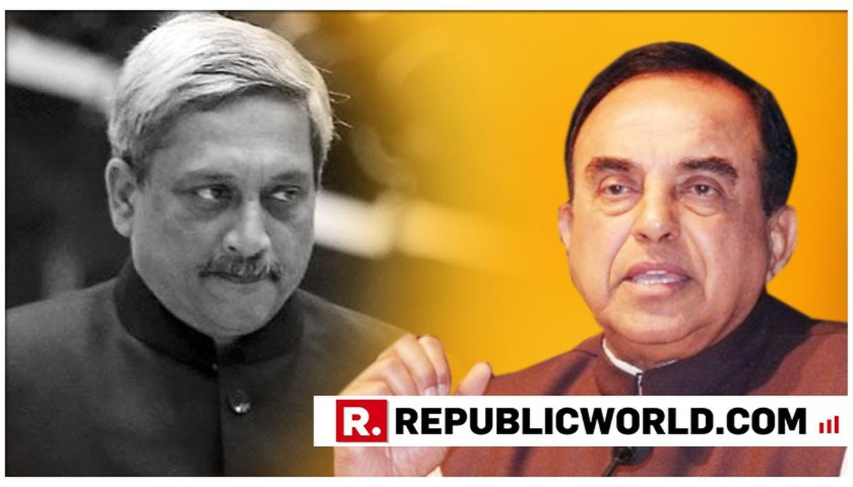 """NATION HAS LOST A TRUE BHARAT RATNA"": DR SWAMY ON MANOHAR PARRIKAR"