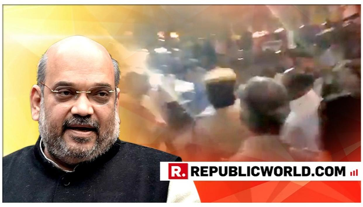 AMIT SHAH LAUNCHES ALL-OUT ATTACK AT CONGRESS FOR CRACKDOWN ON PRO-MODI YOUNGSTERS
