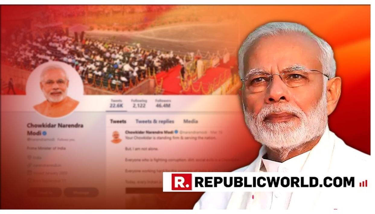 PM MODI TO INTERACT WITH PEOPLE FROM 500 PLACES IN 'MAIN BHI CHOWKIDAR' CAMPAIGN