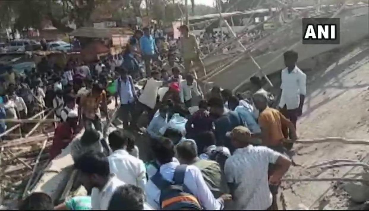 KARNATAKA BUILDING COLLAPSE: SEVERAL FEARED TRAPPED AFTER UNDER CONSTRUCTION BUILDING COLLAPSES IN DHARWAD, KARNATAKA. LIVE UPDATES