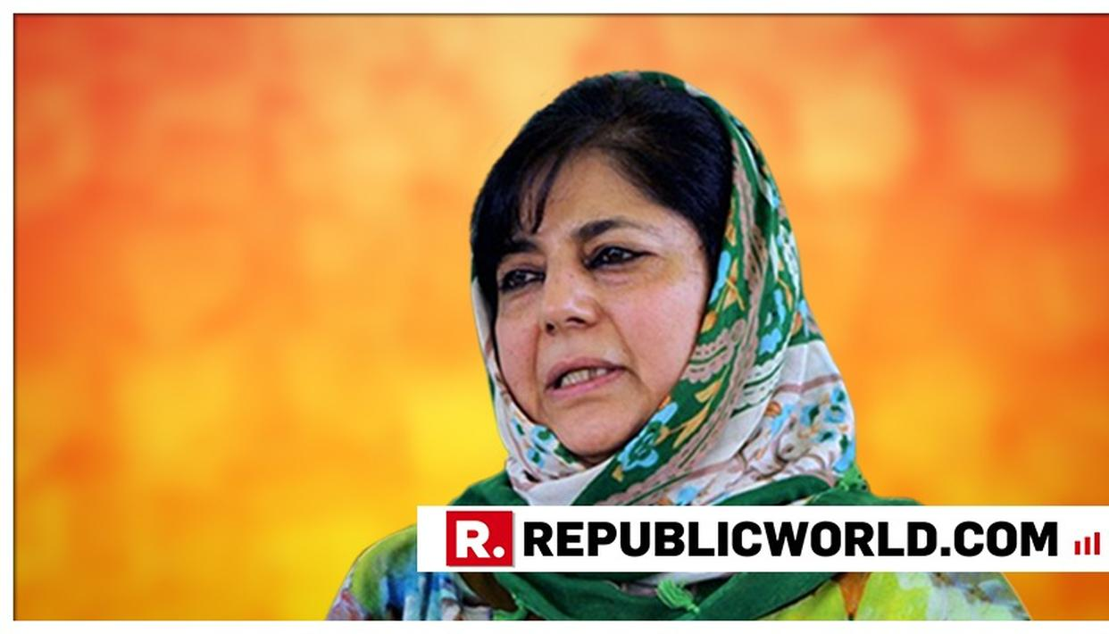 WATCH: MEHBOOBA MUFTI ACCUSES THE GOVERNMENT OF 'BALAKOT PROPAGANDA' CALLS THE IAF AIR STRIKES AN 'ELECTION GIMMICK'