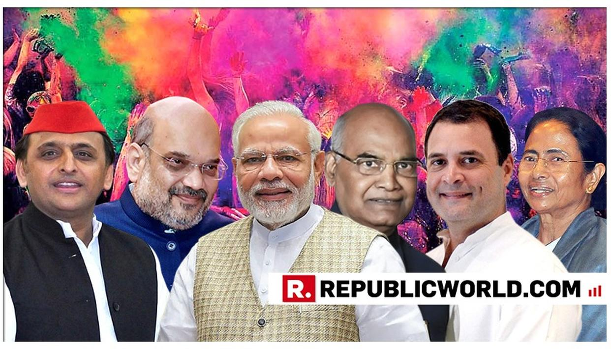 PM MODI, PRESIDENT KOVIND, RAHUL GANDHI, MAMATA BANERJEE AND OTHER POLITICAL LEADERS EXTEND HOLI GREETINGS TO THE NATION