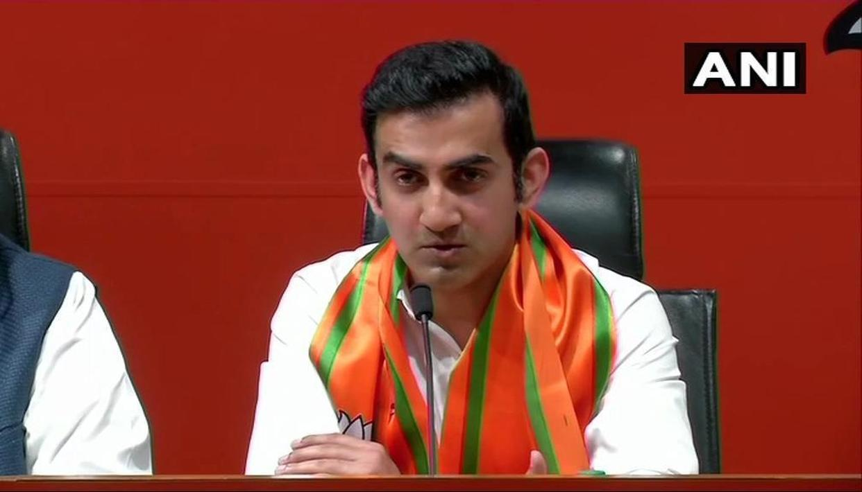 HERE'S GAUTAM GAMBHIR'S FIRST TWEET AS A POLITICAL LEADER AFTER JOINING THE BJP