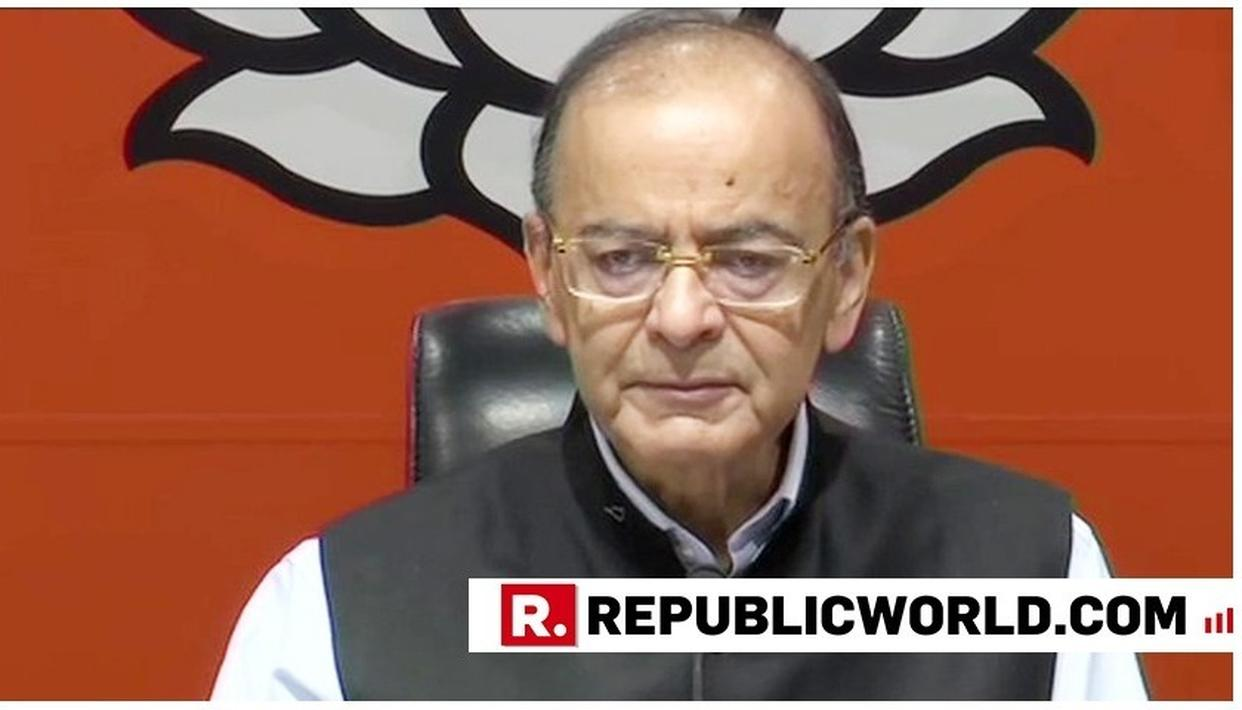 """PEOPLE WILL NEVER FORGIVE THEM"", SAYS FINANCE MINISTER ARUN JAITLEY ATTACKING CONGRESS ON SAMJHAUTA BLAST CASE"
