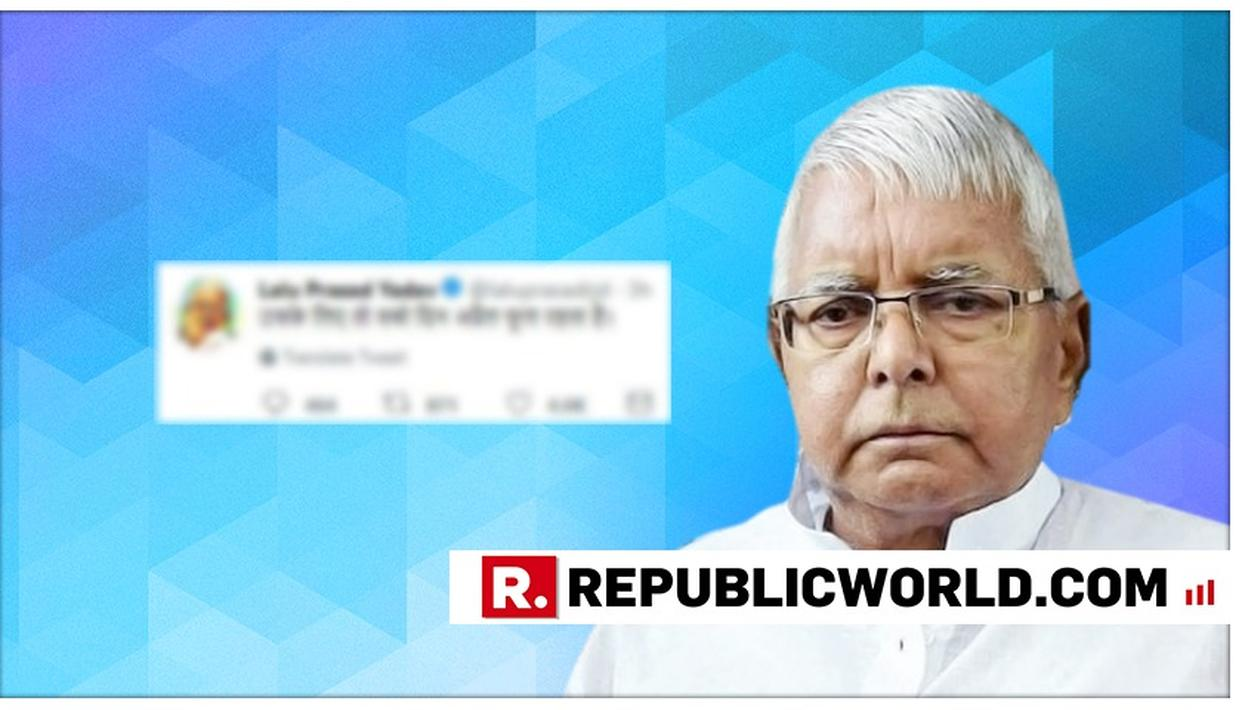 RJD SUPREMO LALU PRASAD YADAV'S WRITES A CRYPTIC MESSAGE ON APRIL FOOLS EVE. READ HIS TWEET HERE