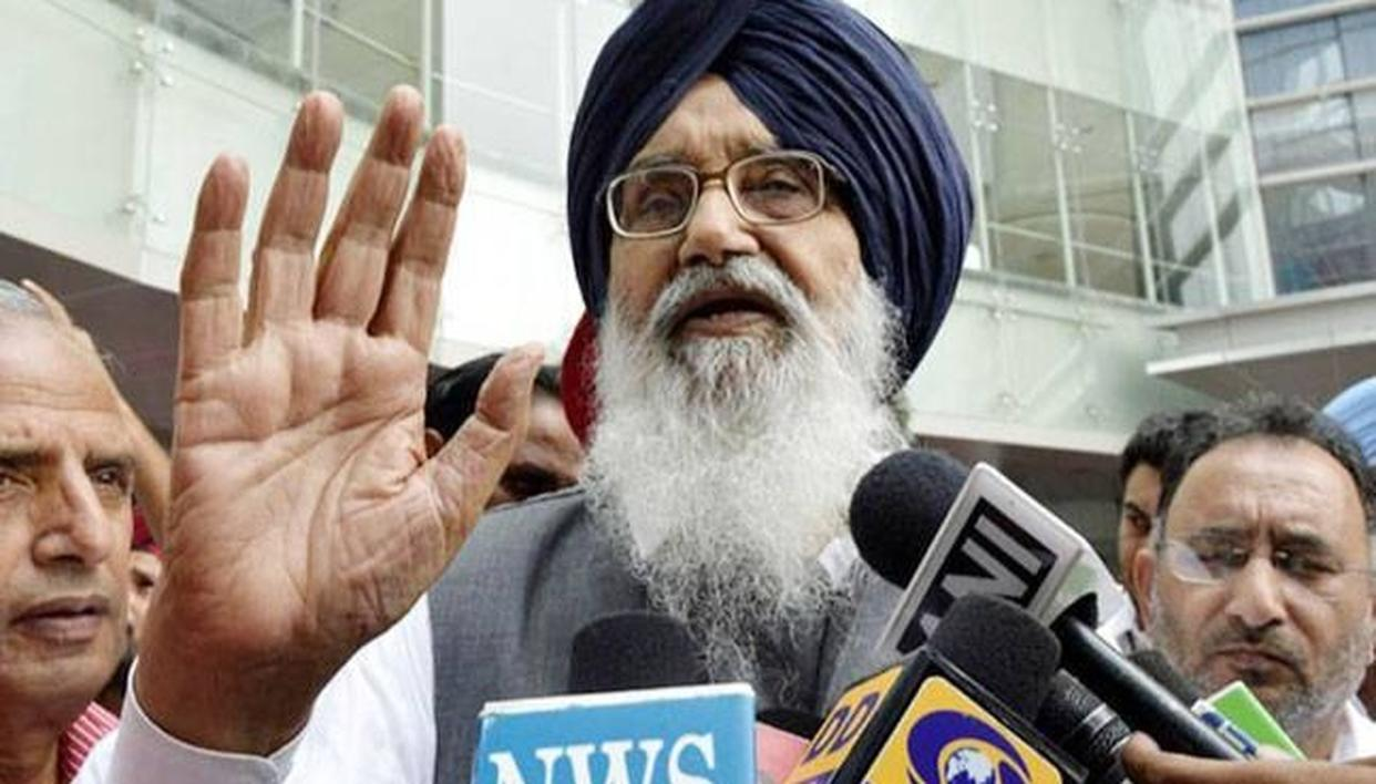 "SAD SUPREMO PRAKASH BADAL CALLS CONGRESS MANIFESTO A ""WEB OF LIES"""