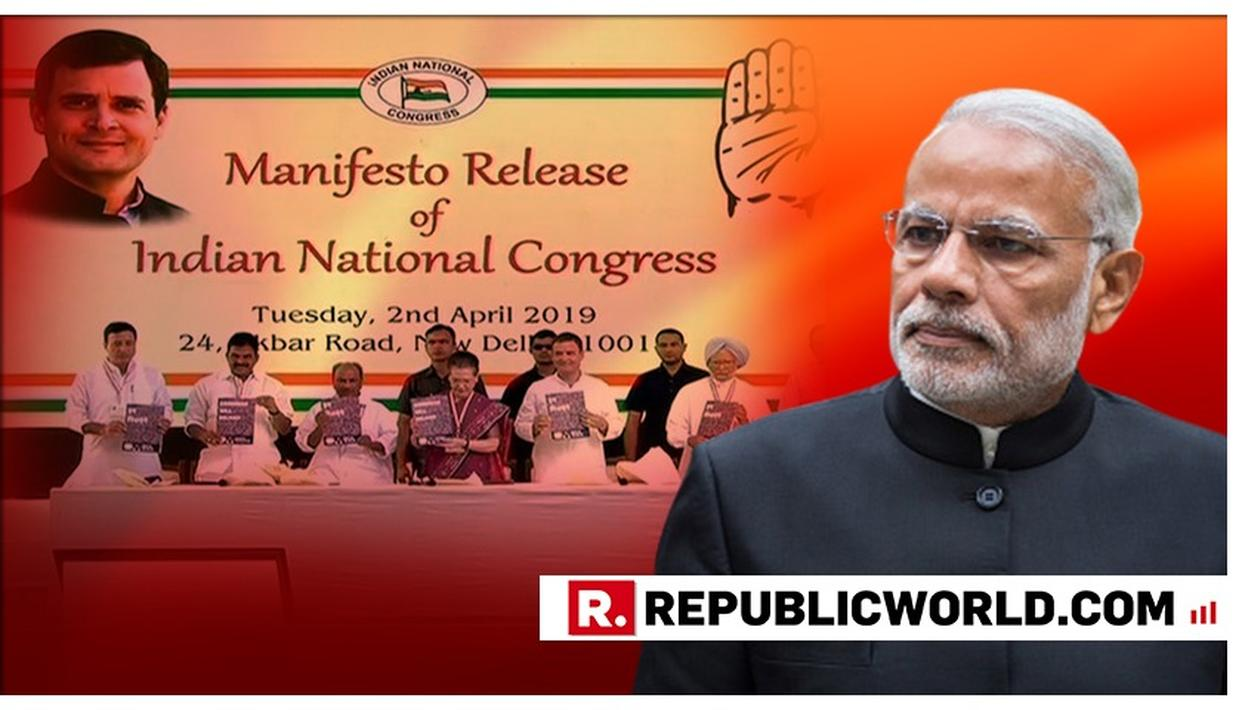 CONGRESS MANIFESTO FULL OF LIES, HYPOCRISY: PM MODI