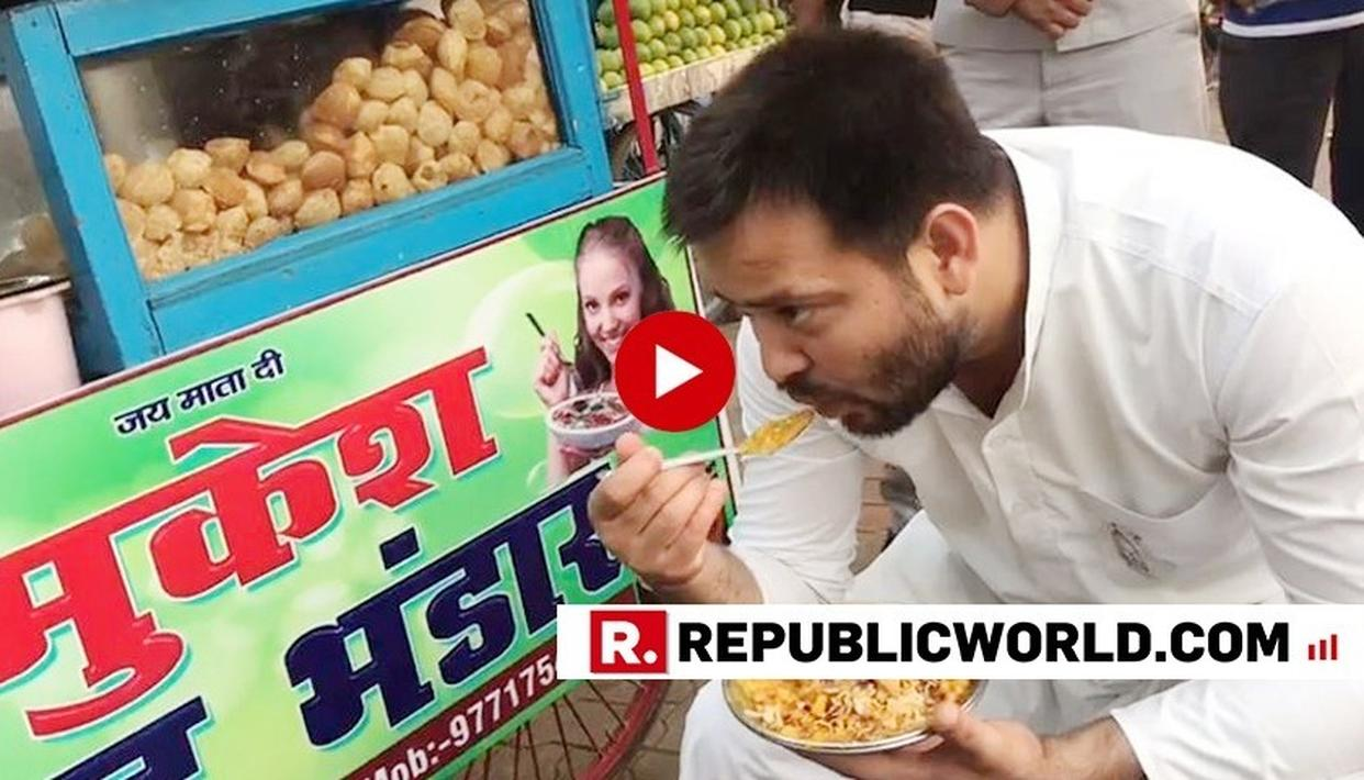WATCH: RJD'S TEJASHWI YADAV INDULGES IN MOUTH-WATERING CHAAT, SAYS 'LET ME FINISH THIS' WHILE ENJOYING THE HEAVILY SPICED TREAT FROM 'MUKESH CHAAT BHANDAAR'