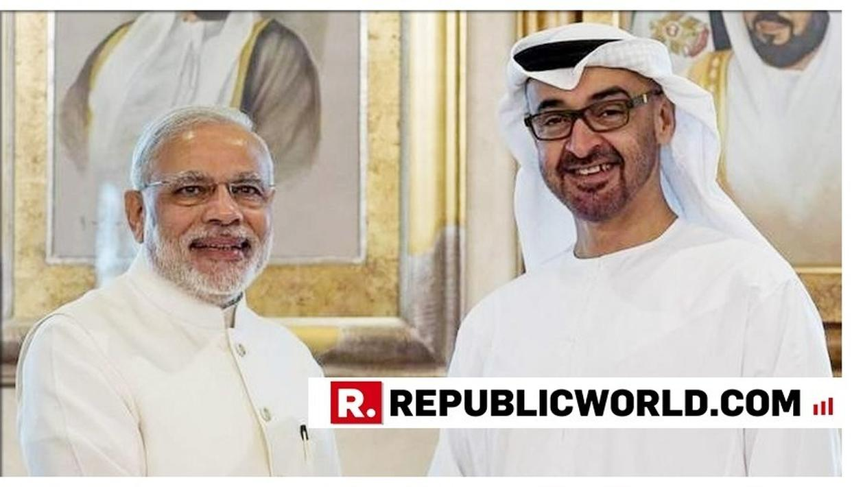 PM MODI CONFERRED WITH UAE'S ZAYED MEDAL