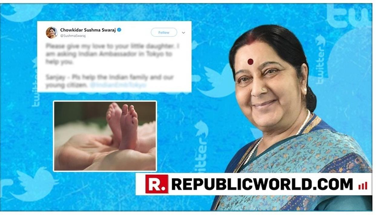 'GIVE MY LOVE TO YOUR LITTLE DAUGHTER': EAM SUSHMA SWARAJ EXTENDS HELP TO THE 'LITTLE' INDIAN CITIZEN IN TOKYO. HERE'S WHAT HAPPENED