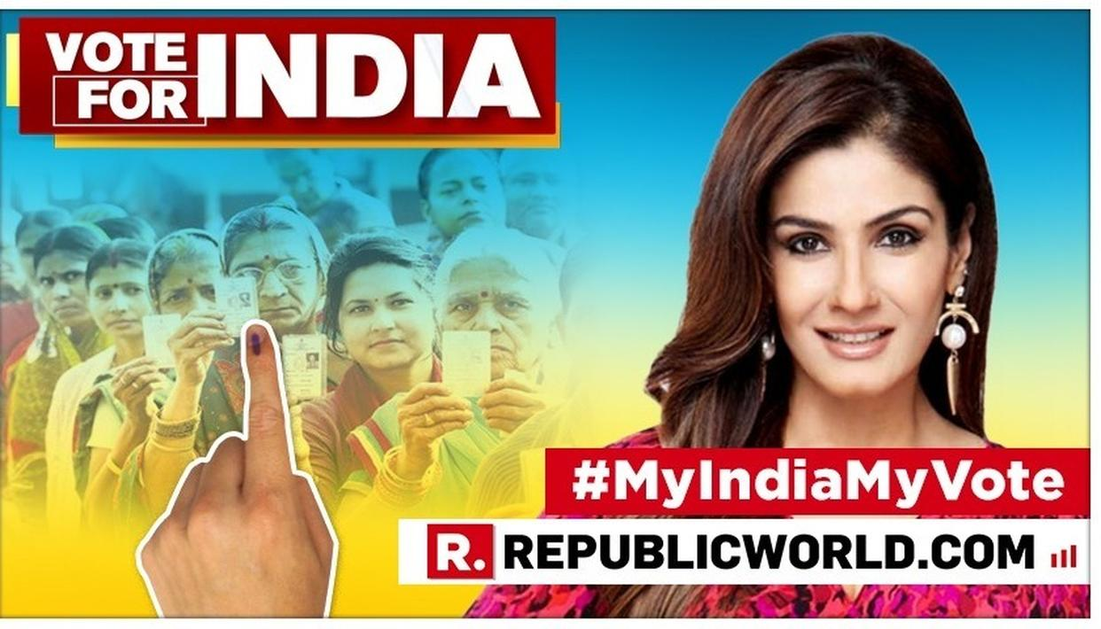 RAVEENA TANDON HAS A MESSAGE FOR THE VOTERS AS INDIA CELEBRATES THE BIGGEST FESTIVAL OF DEMOCRACY - ELECTIONS 2019