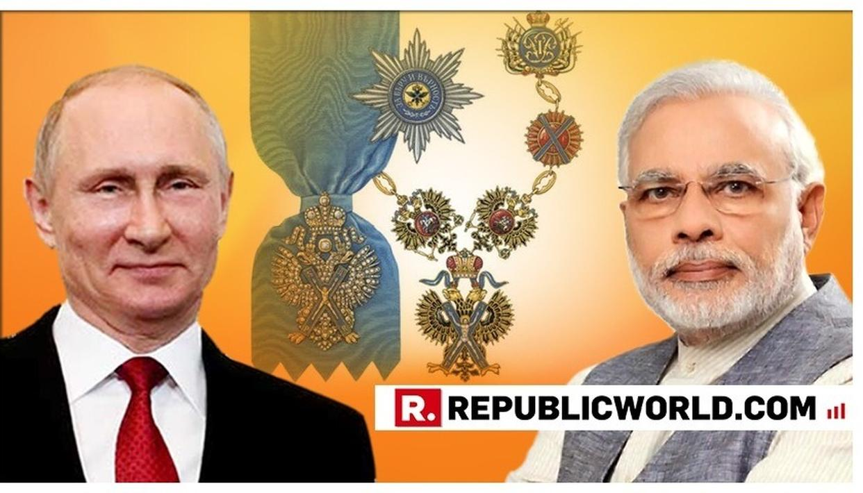 PM MODI ISSUES STATEMENT ON RECEIVING RUSSIA'S HIGHEST HONOUR, THANKS RUSSIAN PRESIDENT PUTIN. READ HERE