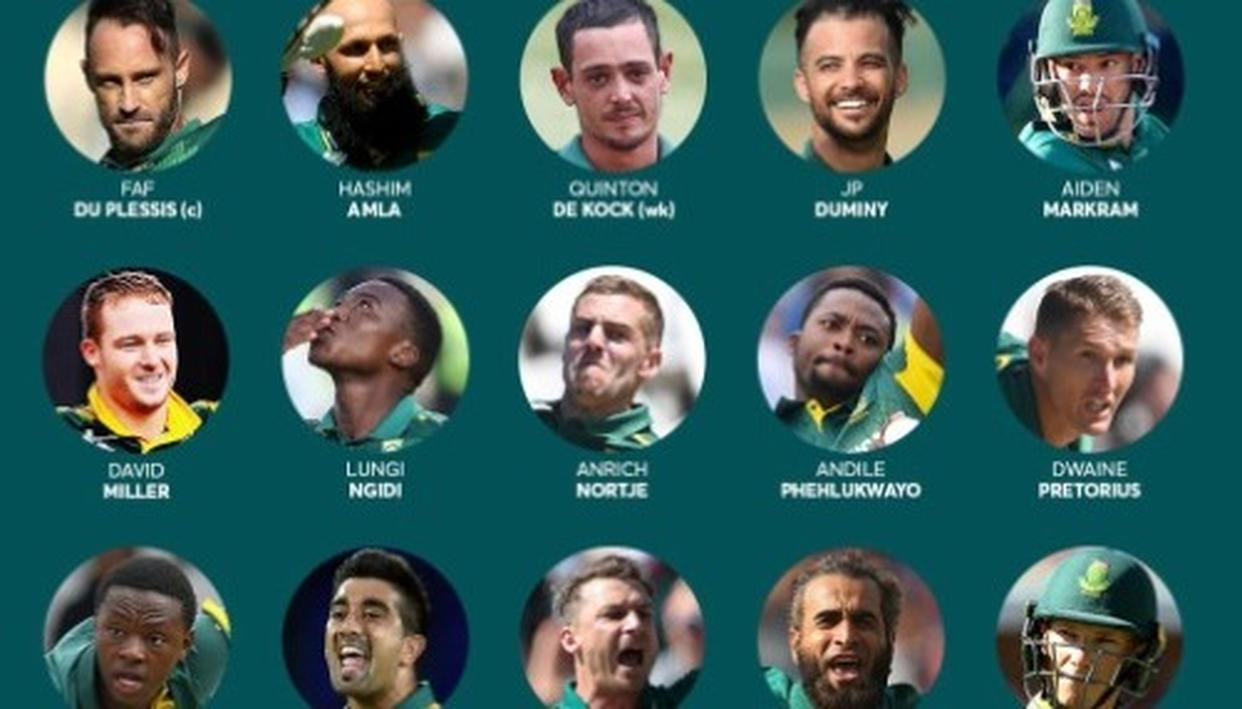 SOUTH AFRICA ANNOUNCE 2019 WC SQUAD, AMLA MAKES THE CUT