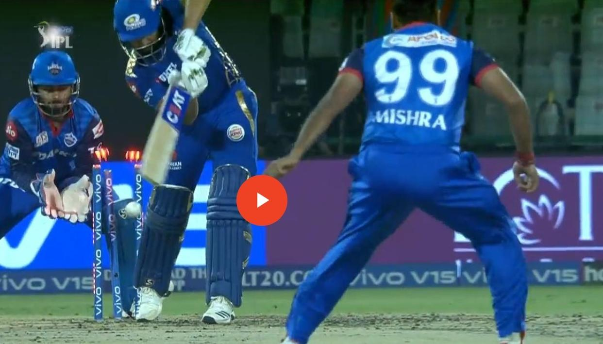 WATCH: AMIT MISHRA BAMBOOZLES MUMBAI SKIPPER ROHIT SHARMA TO REACH THIS MILESTONE ONLY ACHIEVED BY LASITH MALINGA BEFORE