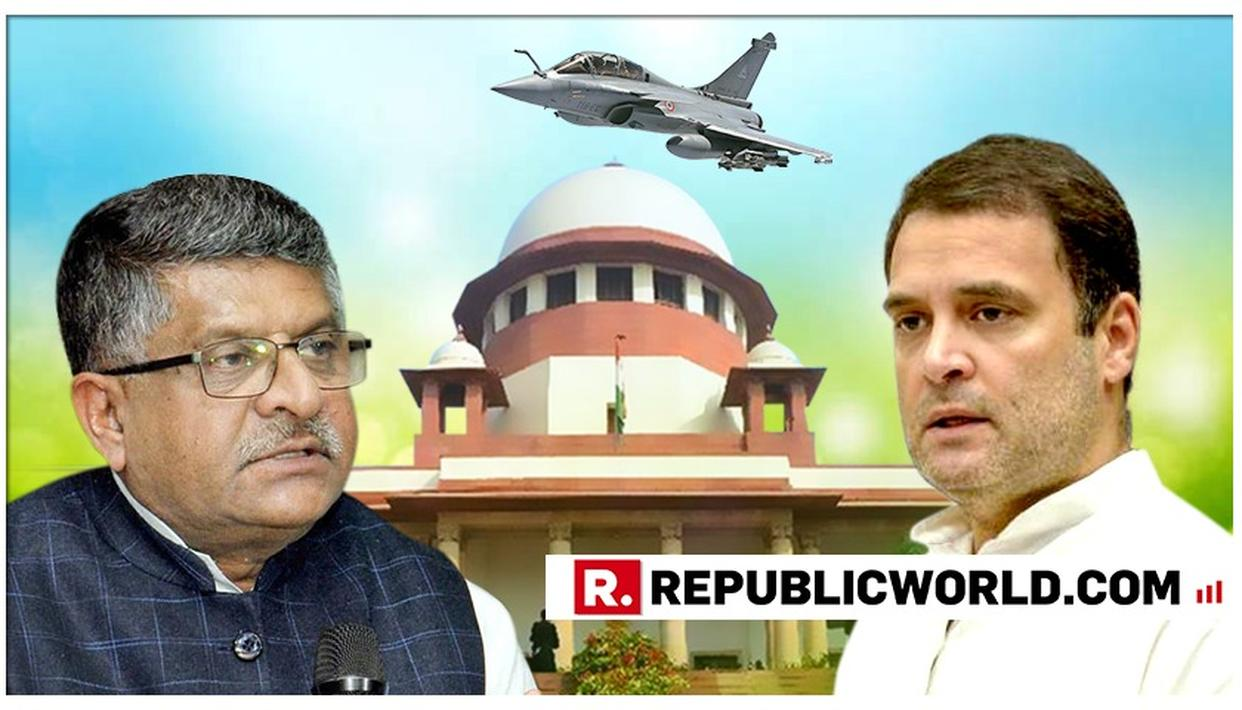 WATCH: HERE'S WHAT LAW MINISTER RAVI SHANKAR PRASAD SAID ON RAHUL GANDHI'S SENSATIONAL RAFALE REMARK 'IN HEAT OF POLITICAL CAMPAIGNING' ADMISSION IN SUPREME COURT