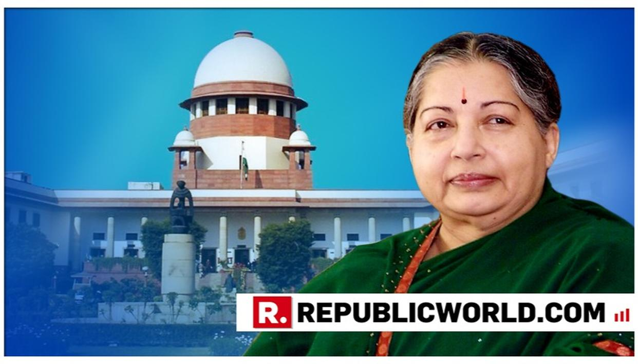 SC REJECTS PLEA AGAINST CONSTRUCTION OF JAYALALITHAA'S MEMORIAL AT MARINA BEACH