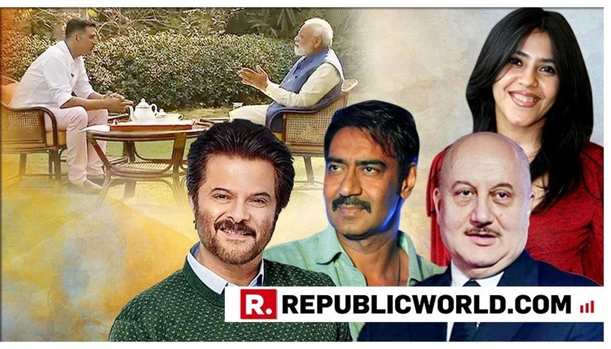 Akshay-PM Modi interview: Anil Kapoor 'inspired by these icons', Anupam Kher proud of his mention; Ajay Devgn, Ekta Kapoor too laud it