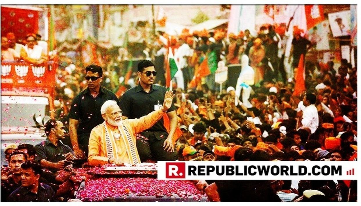'NOT MODI WAVE, BUT A TSUNAMI', NETIZENS REMARK AT SCALE OF TURNOUT AT PM NARENDRA MODI'S MEGA ROADSHOW IN VARANASI