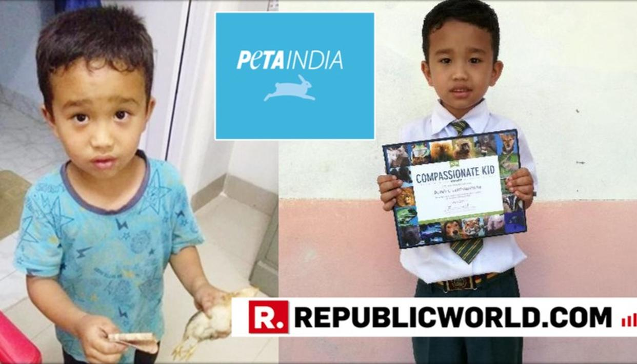 -YEAR-OLD MIZORAM BOY RECEIVES PETA INDIA'S 'COMPASSIONATE KID' AWARD FOR TRYING TO SAVE CHICKEN HE HAD ACCIDENTALLY RUN OVER