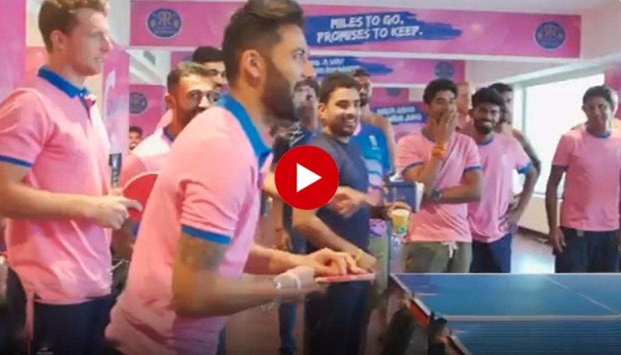 HILARIOUS | 'THIS LOSS WAS A RATHER STINGING ONE!': STUART BINNY, DHAWAL KULKARNI, OTHER RAJASTHAN ROYALS PLAYERS HAVE A PAINFUL EXPERIENCE OF 'STING PONG'