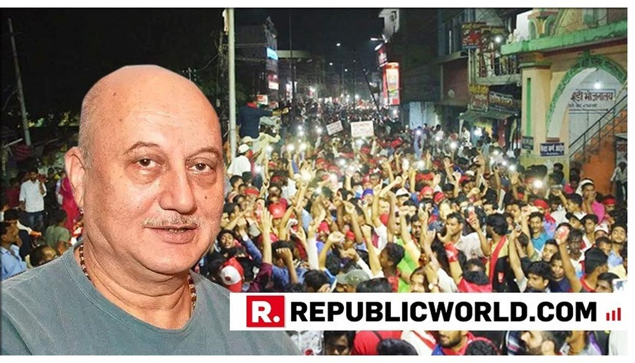 'THE ONE WHO CAN NOT BE OF HIS COUNTRY, HOW CAN HE BE YOURS?', ANUPAM KHER RAISES QUESTIONS ON CPI CANDIDATE FROM BEGUSARAI IN HIS TWEET. READ HERE