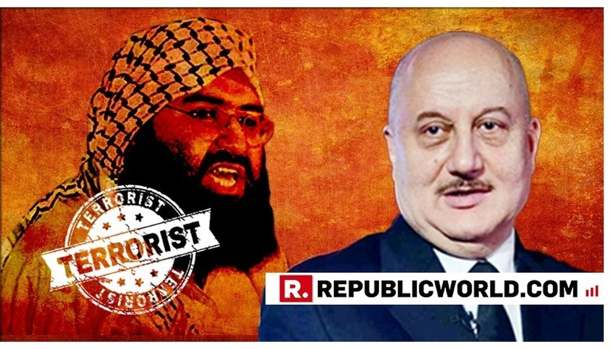 ANUPAM KHER IS ECSTATIC AFTER MASOOD AZHAR IS DESIGNATED AS A GLOBAL TERRORIST IN UNITED NATIONS SANCTIONS LIST; HERE'S WHAT HE TWEETED