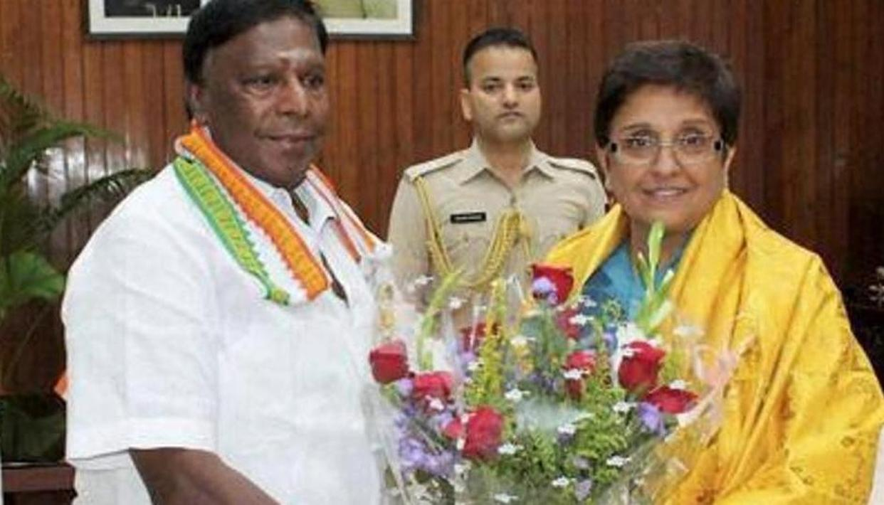 PUDUCHERRY'S CM DEMANDS LT GOVERNOR'S RESIGNATION