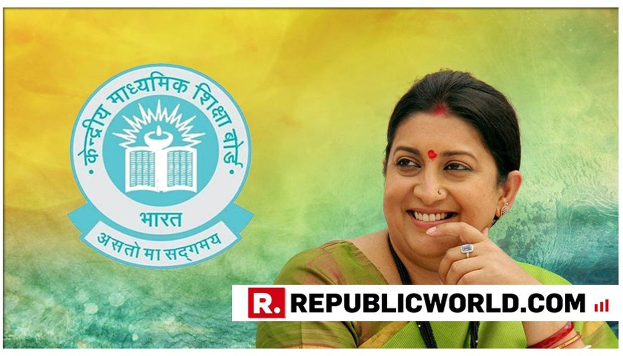 CBSE CLASS 10 RESULTS: HERE'S WHAT PROUD MOTHER SMRITI IRANI SAID ABOUT HER DAUGHTER'S RESULT