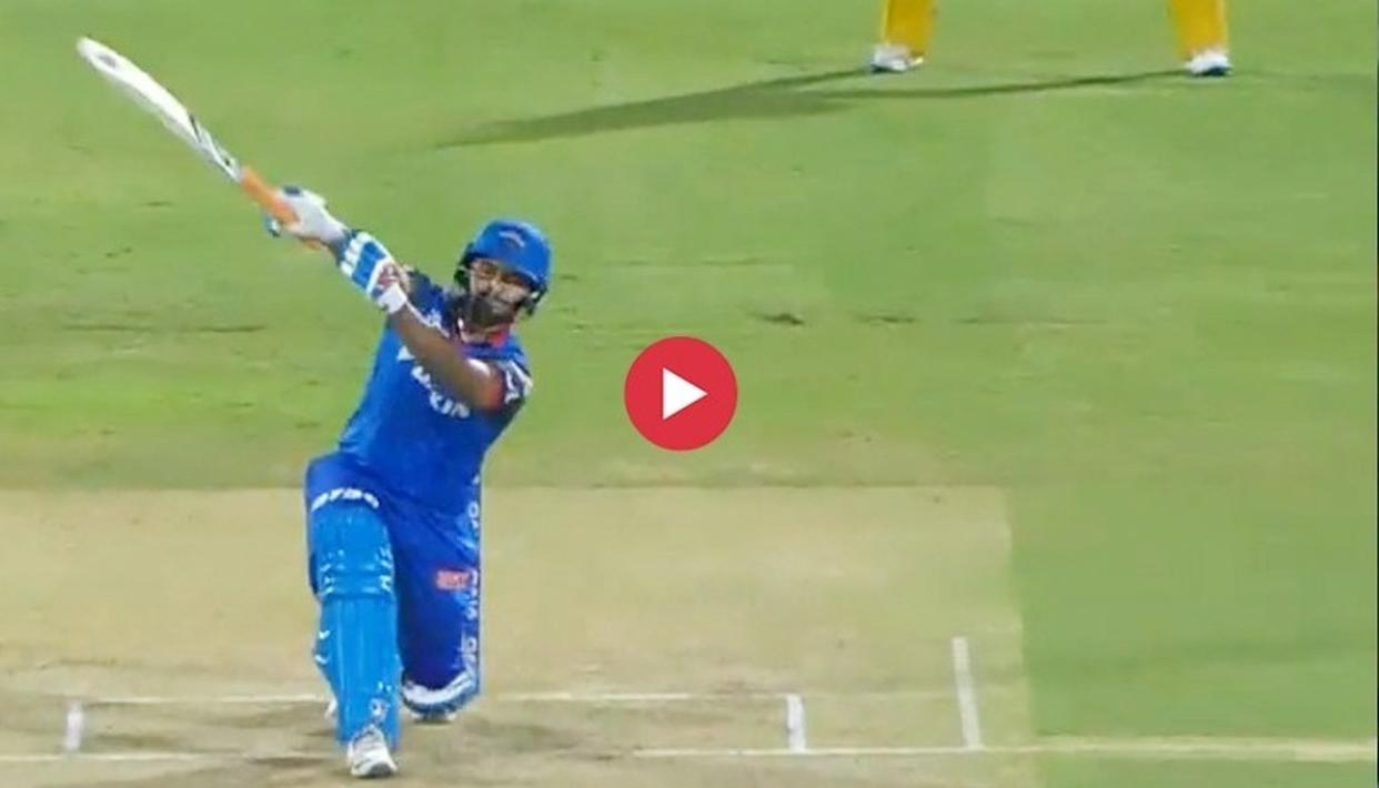 WATCH: WHEN RISHABH PANT'S TRADEMARK ONE-HANDED SHOT DIDN'T ACHIEVE THE DESIRED RESULT