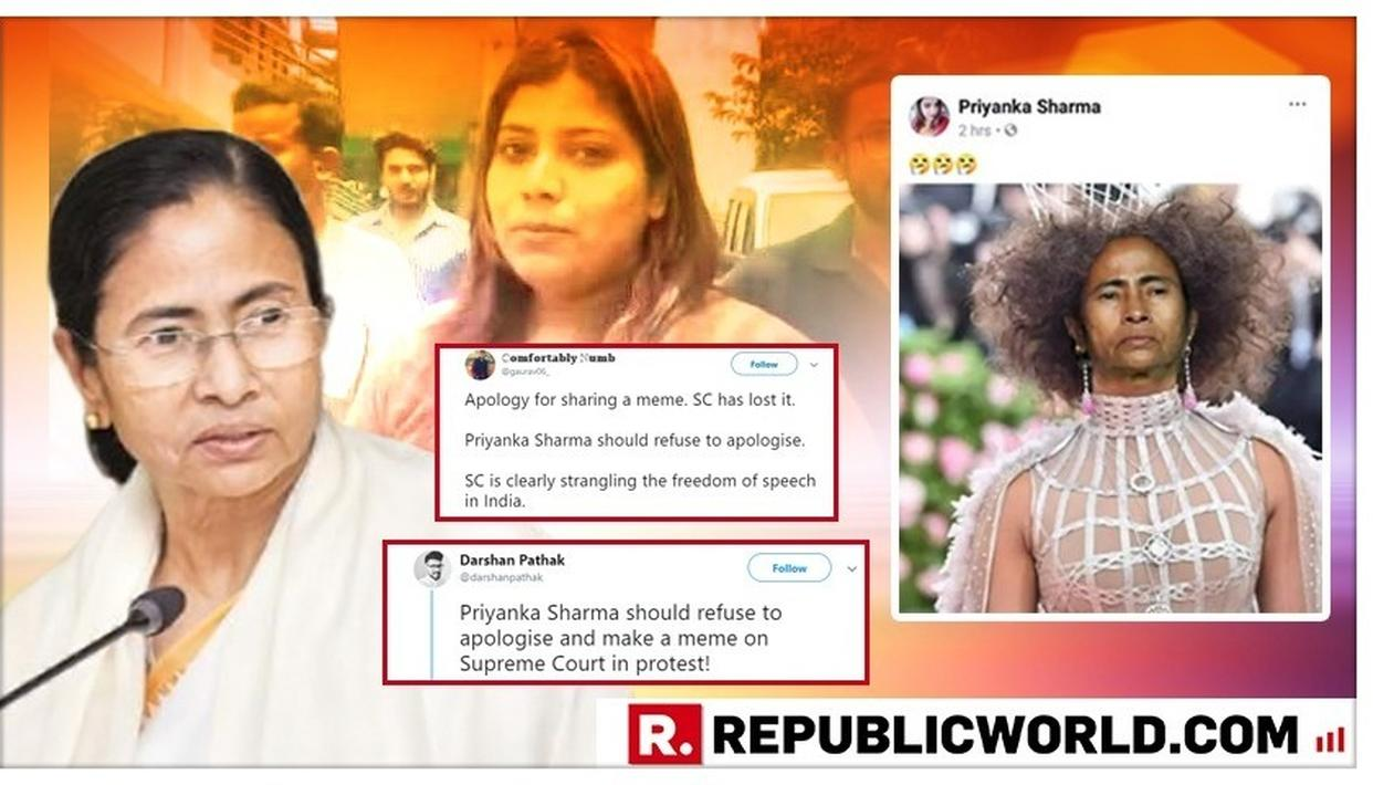 'PRIYANKA SHARMA SHOULD REFUSE TO APOLOGISE,' FURIOUS NETIZENS SUPPORT BJP ACTIVIST, QUESTION SUPREME COURT OBSERVATION