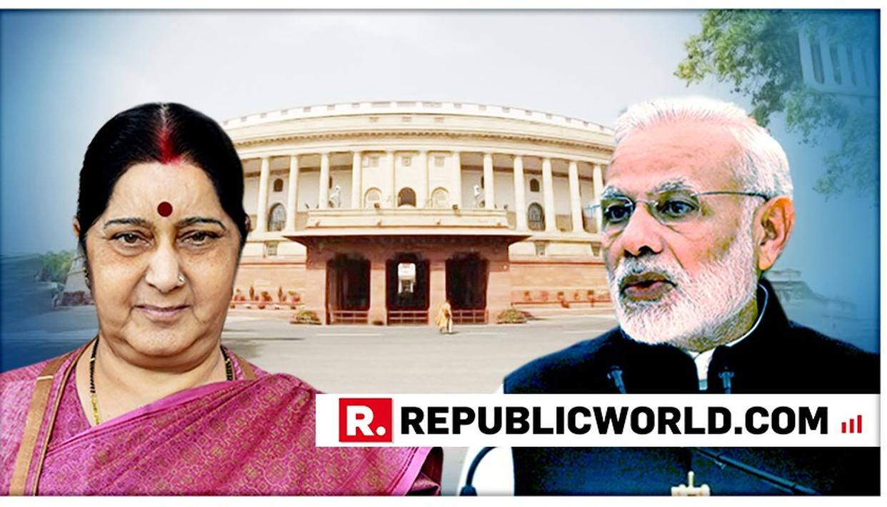 SUSHMA SWARAJ QUESTIONS DECADES OF CONGRESS RULE OVER PAUCITY OF WOMEN UNION MINISTERS, COMPARES IT WITH THE MODI SARKAR