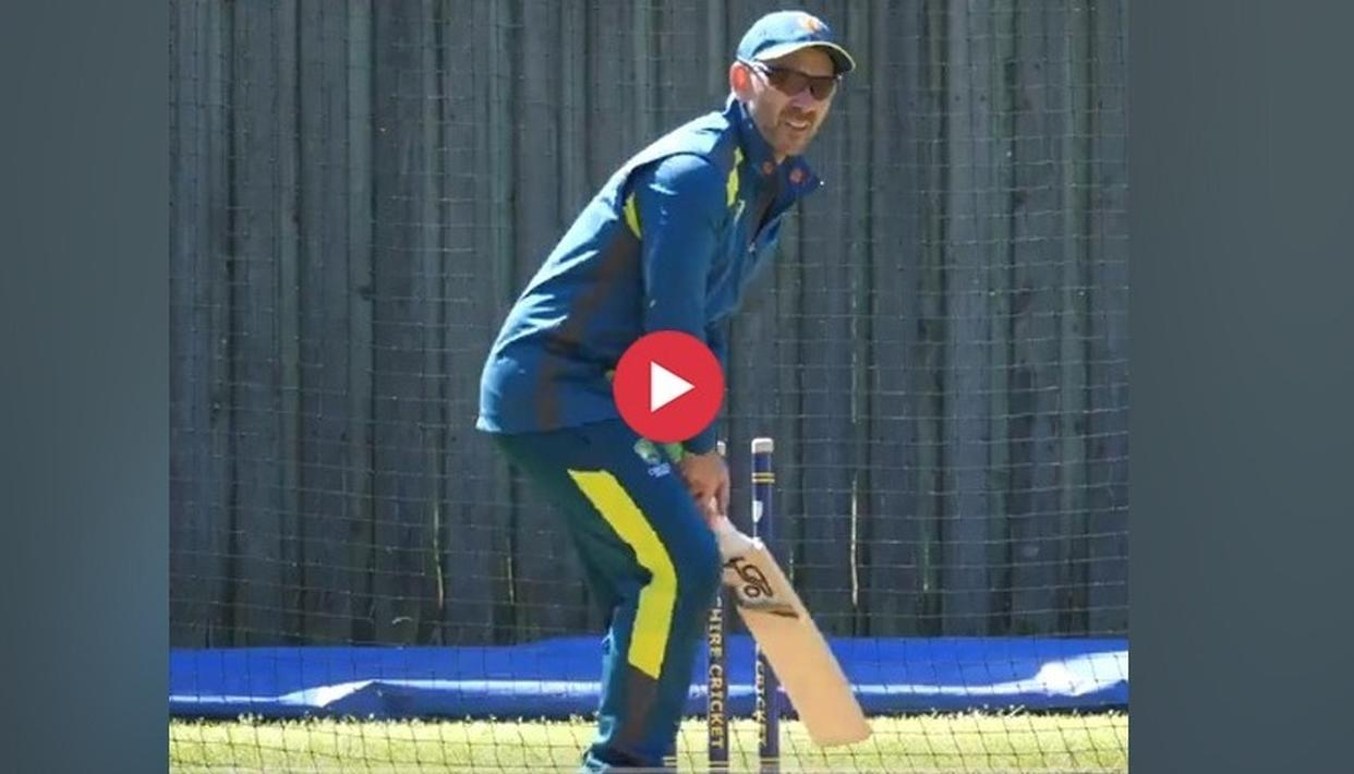 WATCH: HERE'S WHAT AUSSIE ALL-ROUNDER GLENN MAXWELL HAD TO SAY ABOUT HIS HEAD COACH JUSTIN LANGER HITTING THE NETS