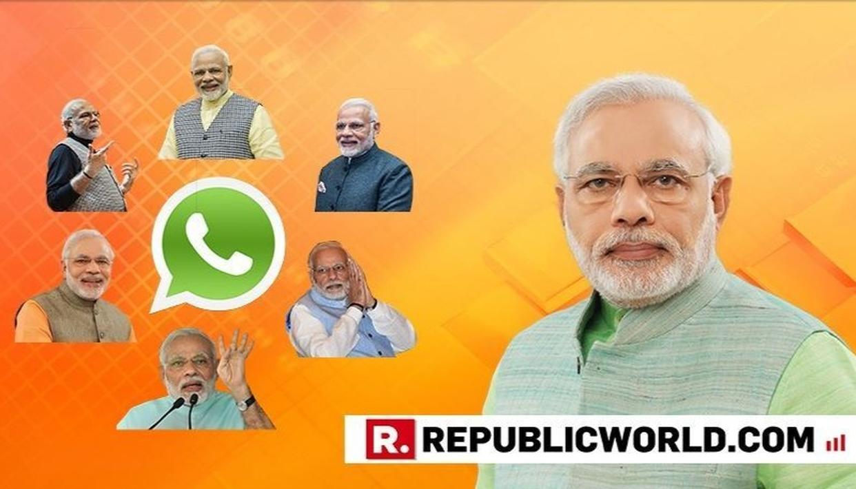 WITH NDA LEADING HANDSOMELY IN THE LOK SABHA ELECTION RESULTS 2019, NAMO STICKERS ON WHATSAPP GO VIRAL, HERE'S HOW TO USE THEM
