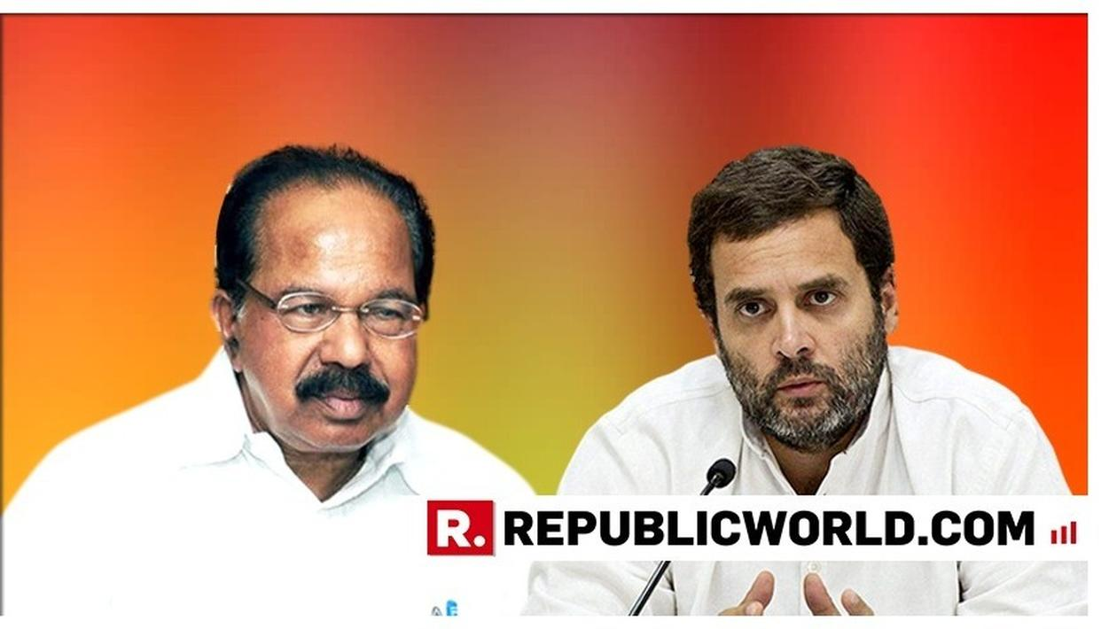NOW, SENIOR CONGRESS LEADER VEERAPPA MOILY BACKS RAHUL GANDHI'S AS PARTY PRESIDENT, SAYS 'IT'S NOT THE QUESTION OF FINDING A PERSON OUTSIDE THE FAMILY'