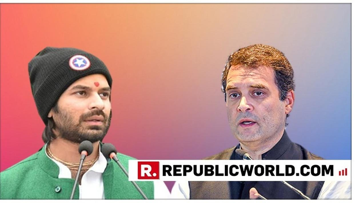 HOURS AFTER LALU PRASAD YADAV CALLED RAHUL GANDHI'S RESIGNATION 'SUICIDAL', SON TEJ PRATAP YADAV CHIMES IN WITH 'COUNTRY NEEDS' APPEAL