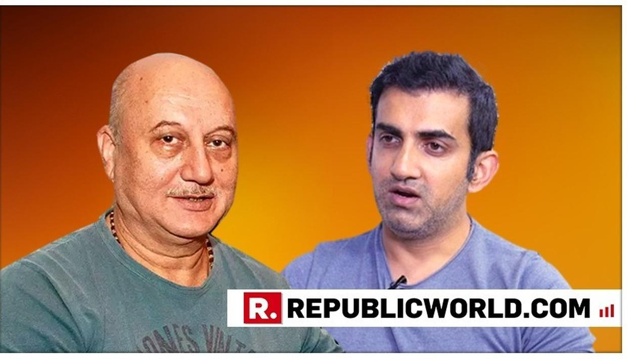 """""""DON'T GET INTO A TRAP OF GETTING POPULAR WITH A SECTION OF MEDIA"""": ANUPAM KHER TO GAUTAM GAMBHIR. HERE'S HIS ADVICE"""